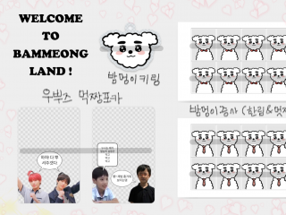 Welcome to BAMMEONG LAND ! & 우뿌즈 먹짱포카 4차