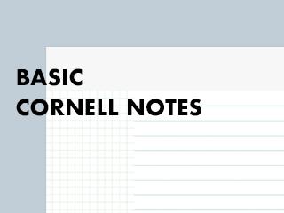 Basic cornell note