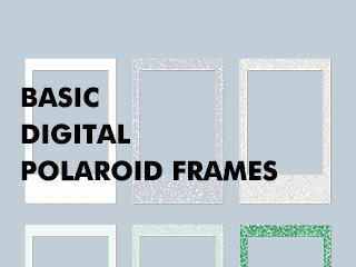 Basic digital polaroid frames (폴라로이드 / 폴꾸틀)