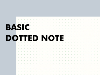 Basic dotted note