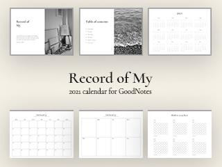 Record of My 2021 calendar