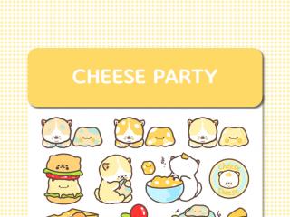 [망뭉] 치즈파티 스티커