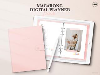 [쁘띠팩토리] 마카롱 6공 다이어리 - Pink